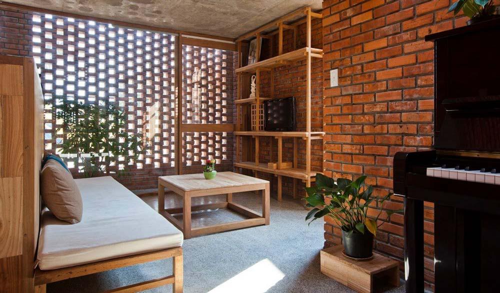 Ide Dekorasi Dinding dengan Bata Tempel