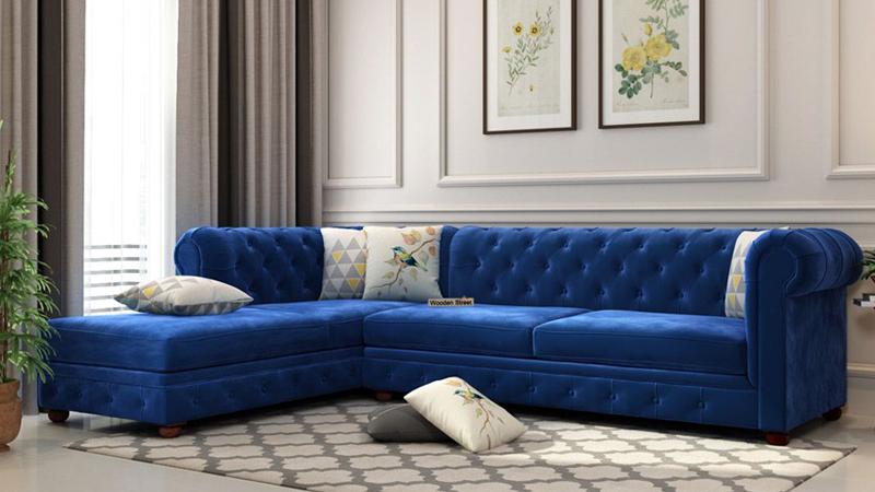 Model sofa velvet model L