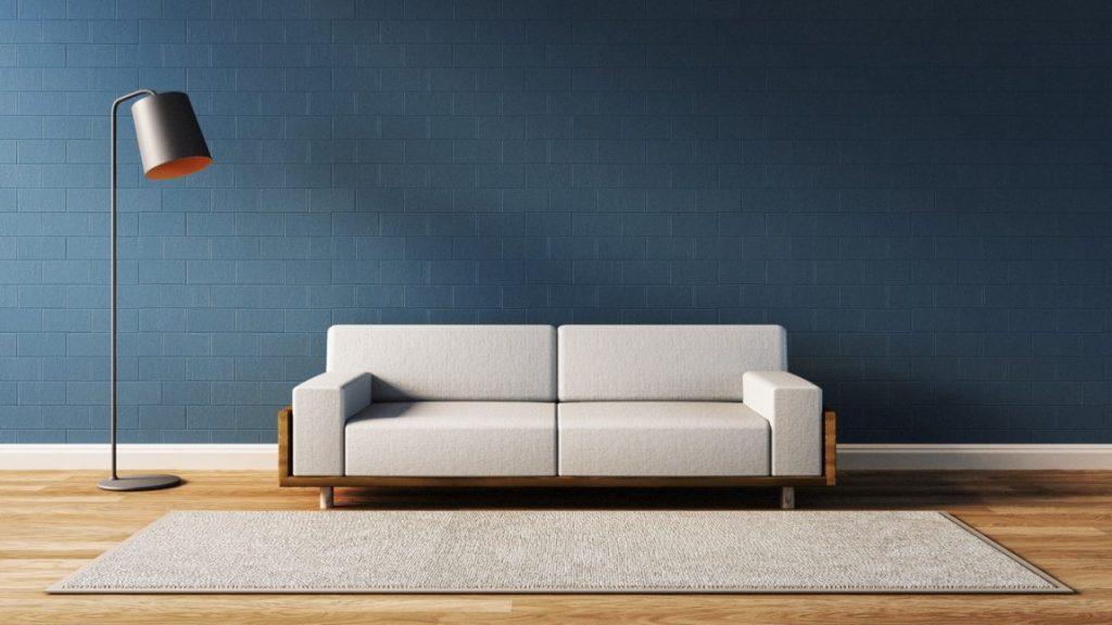 Model sofa velvet serba putih