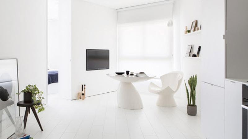 Desain rumah minimalis serba putih