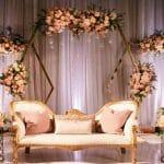 dekorasi pernikahan indoor minimalis
