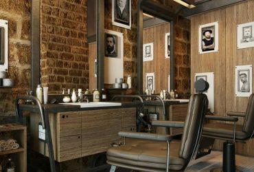desain barbershop minimalis