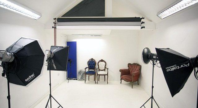 dekorasi studio foto minimalis