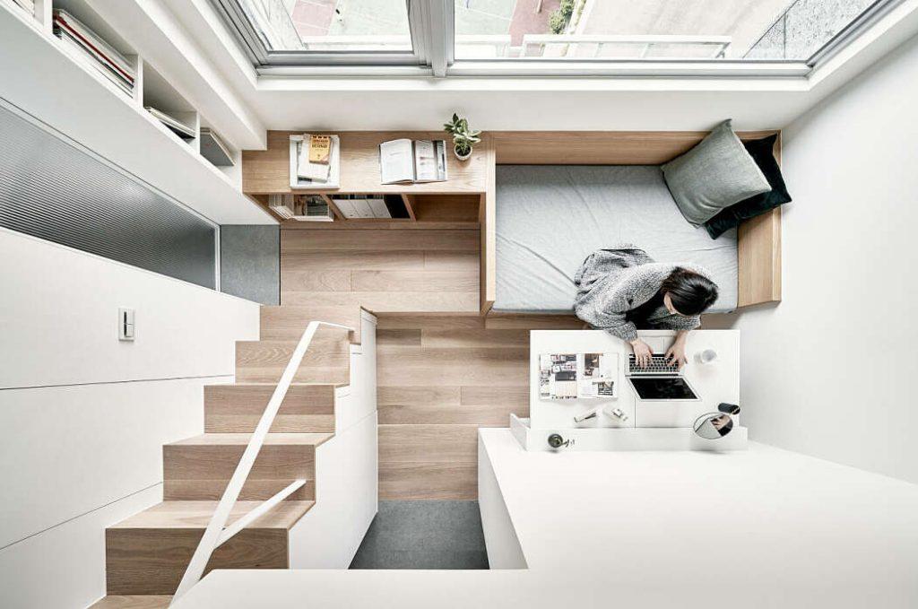 Contoh desain apartemen minimalis modern