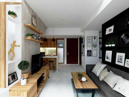 contoh desain apartemen minimalis modern - pondasi